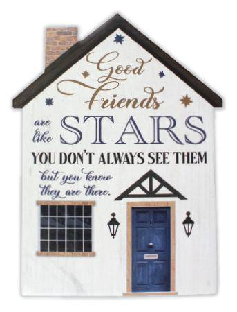 This Good Friends Porcelain Plaque is the perfect gift for a friend this Christmas/Giftworks, Ennis&Galway