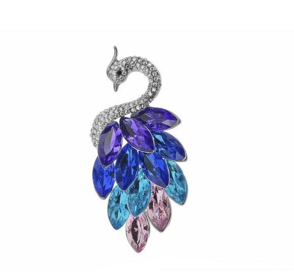 Indulgence Jewellery Brooch Glam up any outfit with this pretty Peacock brooch by Indulgence Jewellery. Sparkling with several different colors it will look really/Giftworks, Ennis&Galway