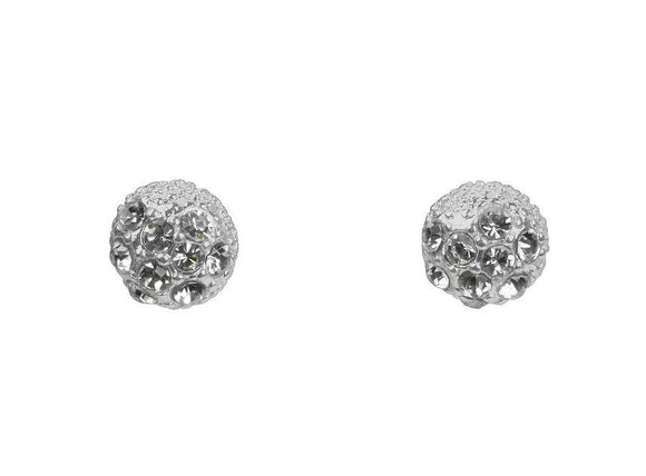 Stud Ball Studs With Crystals Earrings (IEAR0679)