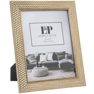 Gold Hexagon Frame The hexagon photo frame will make an elegant update to any room/Giftworks, Ennis&Galway