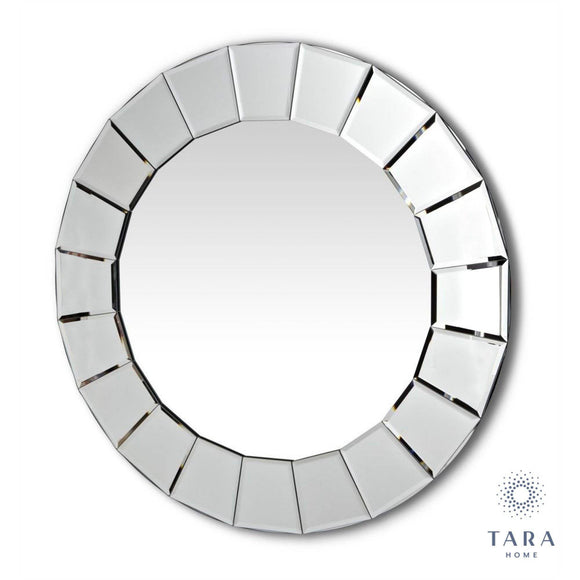 Brought to you by Tara Living, The lilliana contemporary wall mirror is an impressive 80cm in diameter/Giftworks, Ennis&Galway