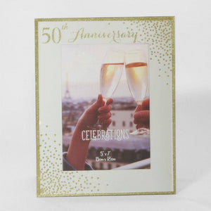 50th Anniversary Frame This wonderful freestanding frame makes the perfect gift for a special couple on their anniversary/Giftworks, Ennis&Galway