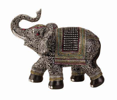 Elephant with rhinestones This beautiful exotic art Elephant figurine is small in stature but big in beauty/Giftwrks, Ennis&Galway