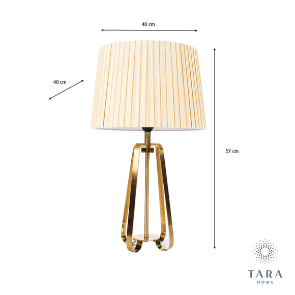 The Sia Geo Lamp from Tara Living Collection is strikingly beautiful with its sculptured geometrically curved and sloping base/Giftworks, Ennis&Galway