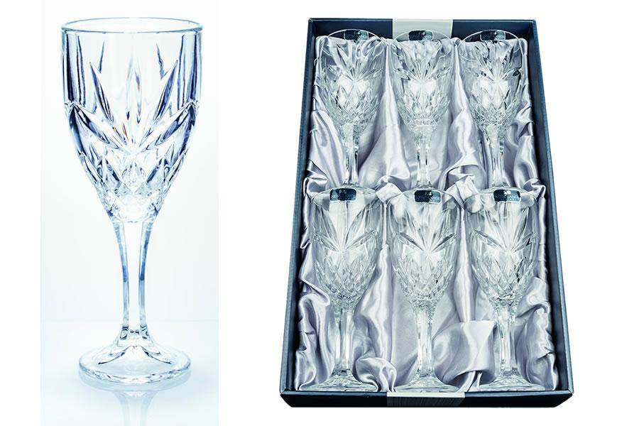 Adare Crystal Wine Glasses This set of six stunning Newgrange Living Adare Wine Glasses will make the perfect statement piece/Giftworks, Ennis&Galway