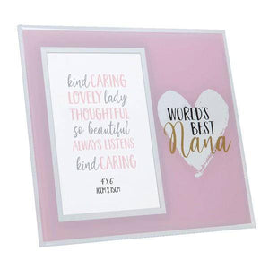 Give a precious pic with your Nana its place to shine with this luxury pink/GiftworksStores, Ennis&Galway