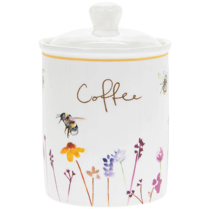 Busy Bees Fine China Coffee Canister. - Giftworks