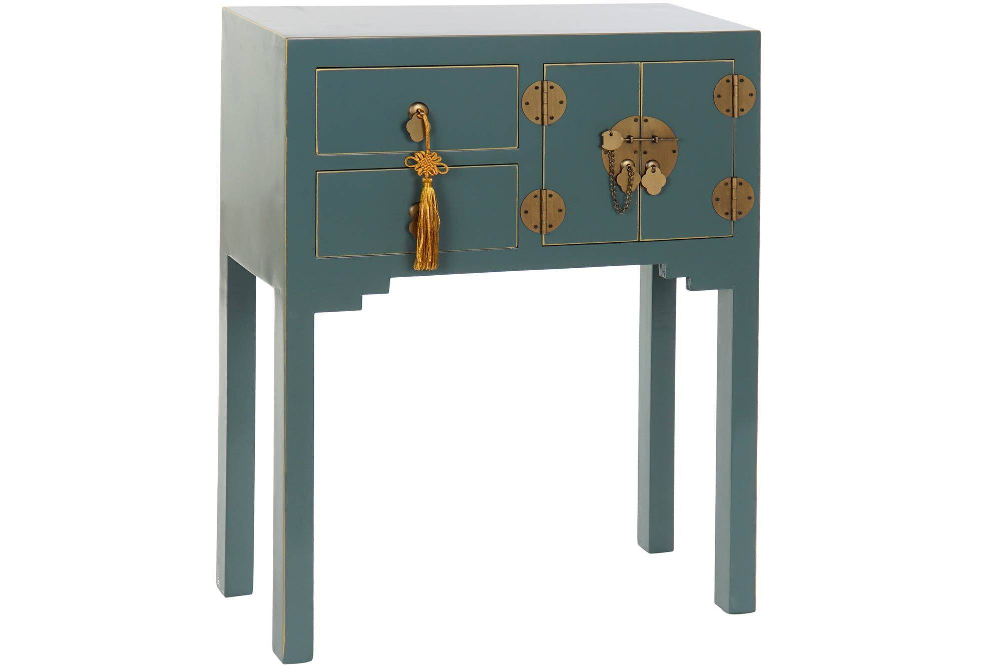 CONSOLE TABLE SOLID WOOD MDF ORIENTAL 63X26X83cm