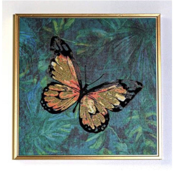 Butterfly Gold Framed Bring tropical vibes into your home with this beautiful Butterfly Canvas Print/Giftworks, Ennis&Galway