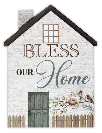 The Bless Our Home House Plaque is a great way to decorate your wall with a faith friendly message. Makes a great a gift for new home owners/Giftworks, Ennis&Galway
