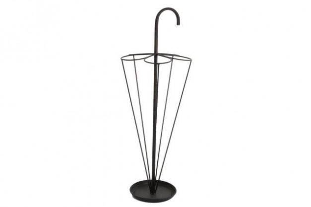 Black Umbrella Stand. Crafted into the shape of an upturned umbrella, this quirky yet elegant umbrella stand is the perfect hallway accessory for your home/Giftworks