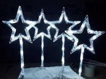 Christmas outdoor lights 4Pc Star - Giftworks