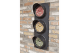 Give your home a touch of fun and style with this stop light decor feature piece wall clock/GiftworksStores, Ennis&Galway