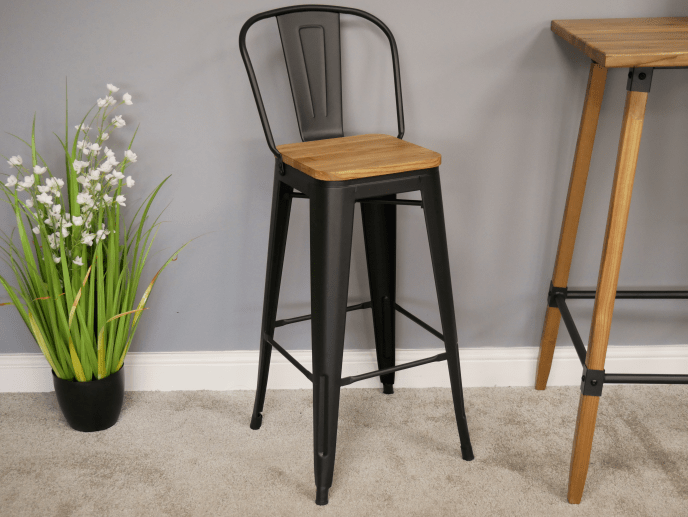 Bar Stool Add a Modern industrial appearance to kitchen, dining area with these stylish stools/Giftworks, Ennis&Galway