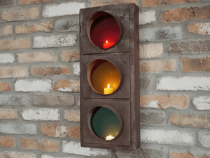 Funky Traffic Light Candle Holder/GiftworksStores, Ennis&Galway