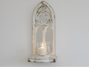 Beautiful wall mounted church arch mirror candle holder/GiftworksStores, Ennis&Galway