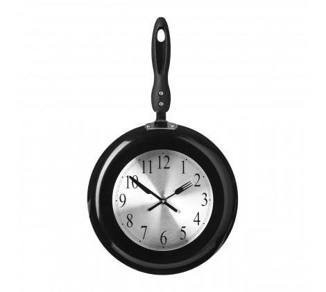Black Frying Pan Design Wall Clock. Keep on top of those cooking times with our novelty frying pan wall clock that will make a fun and practical feature Clock on your wall/Giftworks, Ennis&Galway