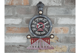 Train Clock, Take a step back in time with this vintage railway steam train wall clock/Giftworks, Ennis&Galway