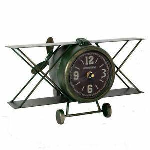 GIFTS FOR MEN MANTEL CLOCK - BIPLANE - Giftworks