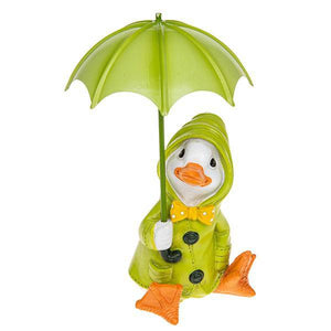 Puddle Duck Green Coat Brolly Featuring an adorable Puddle Duck in brightly coloured green coat/Giftworks, Ennis&Galway