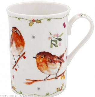 Winter Robin Mug The robin is the commonest bird recorded in Irish gardens. Many believe they have been given signs that their relatives are still around which makes this Winter Robin Gifted Boxed Mug perfect as a gift or for your own personal use during the festive period/Giftworks, Ennis&Galway