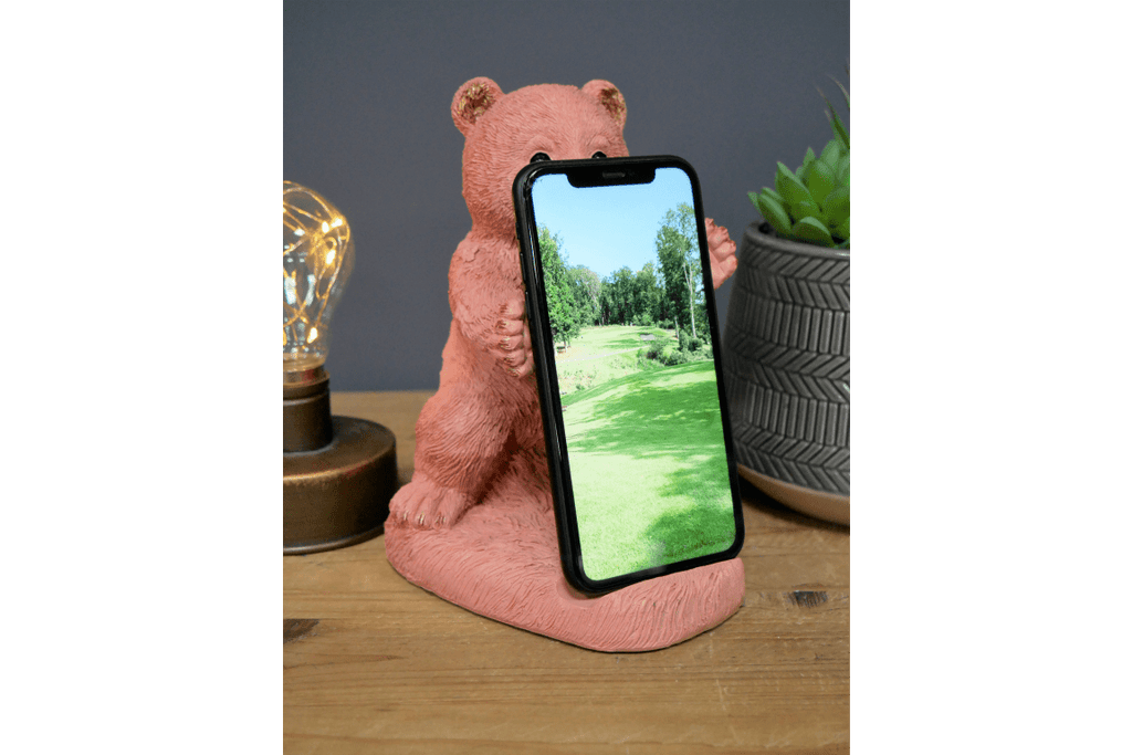 Bear Mobile Holder Give your phone some time to rest and let it take a seat in this super cute Bear mobile phone holder/Giftworks, Ennis&Galway