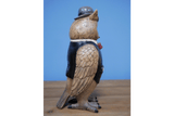 Let out a happy little hoot for this Resin owl figurine. A Gentleman Owl brilliantly dressed in all finery top to toe enjoying his cigar/Giftworks, Ennis&Galway
