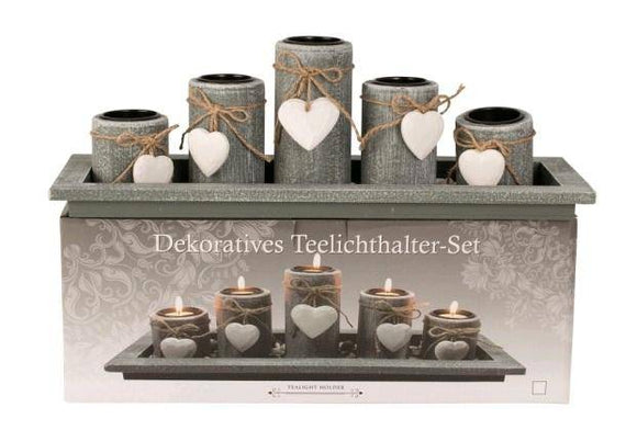 Set the tone with this beautifully decorative tea-light holder set. These stylish candle holders would look perfect as a Center piece or make a lovely thoughtful gift for a new home/Giftworks, Ennis&Galway