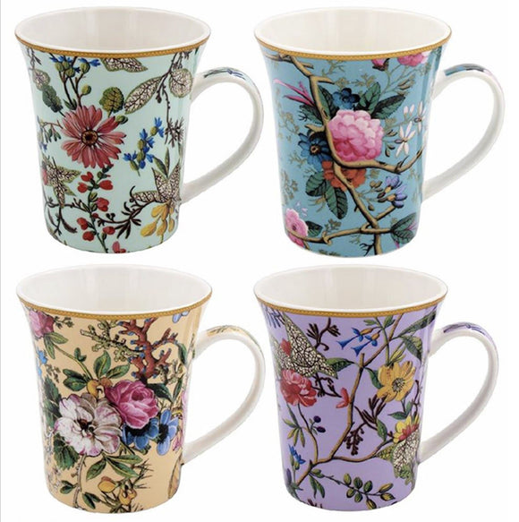 William Kilburn Collection Mug Gift Set These vibrant illustrated designs mug each with a different colour and floral design From the Leonardo collection/Giftworks, Ennis&Galway