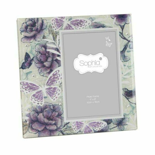 This beautiful item has an attractive lilac butterfly print with silver foil detailing and purple glitter/GiftworksStores, Ennis&Galway