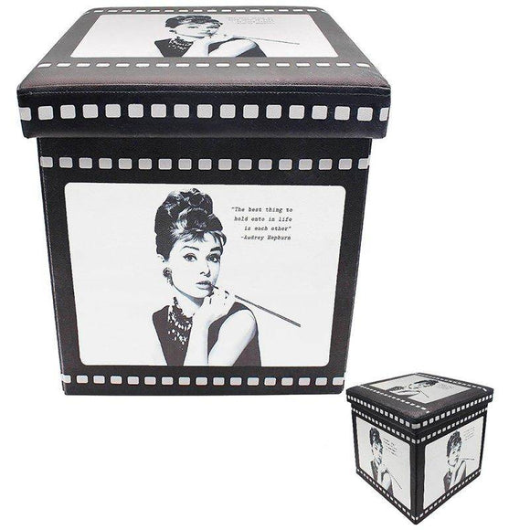 Audrey Hepburn Folding Box An Audrey Hepburn design folding storage box. A great gift idea for/Giftworks, Ennis&Galway