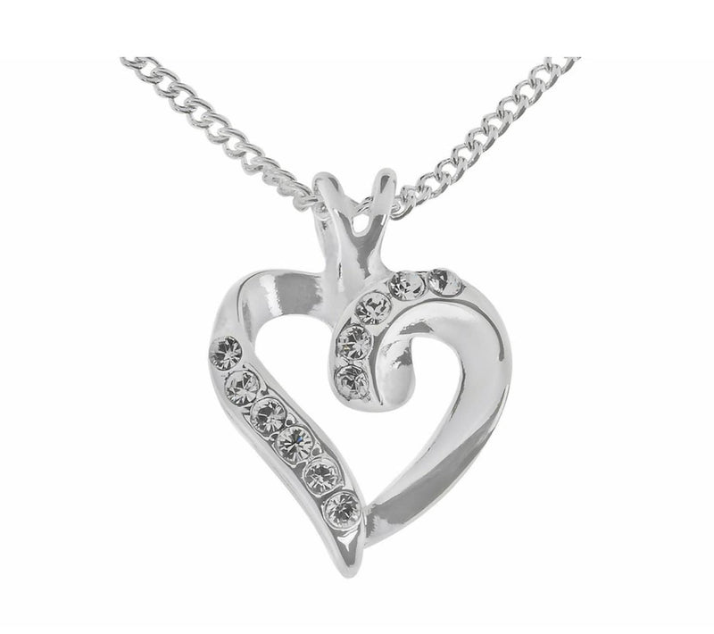 Silver Crystal Heart Pendant - Giftworks