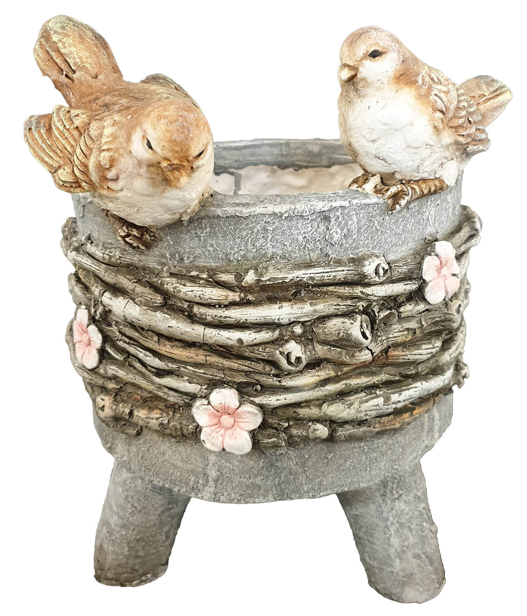 Cute Birds and Flower with a planter is a must have. This Caterpillar planter is excellent to decorate your home and garden/Giftworks, Ennis&Galway
