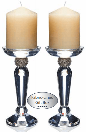 These classy Platinum Pillar Candleholders by Newgrange Living are the perfect way to bring some sophisticated glamour to your home at Giftworks