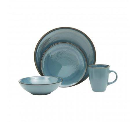 This sea blue, sixteen piece dinner set will create a simple and coordinated look on the dining table. A Dinner Set worth displaying/Giftworks, Ennis&Galway