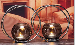 The Grange Collection intertwined Metal Candle Holder,Giftworks, Ennis&Galway
