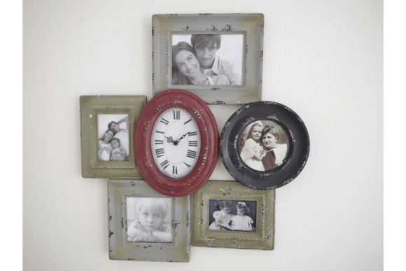 The distressed Multicolour colored Clock Picture Frame /GiftworksStores, Ennis&Galway