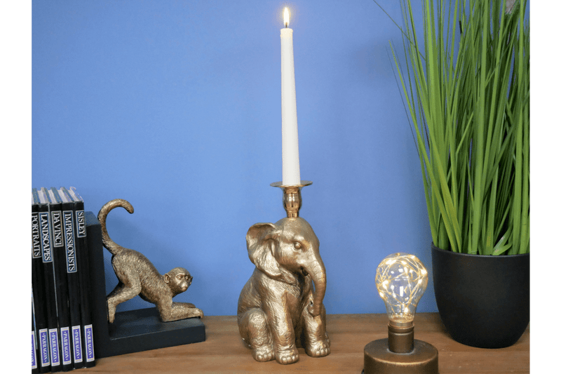 Elephant Candle Holder Sitting - Giftworks