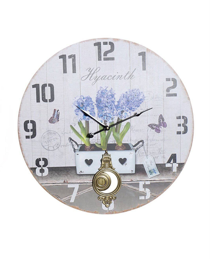 Hyacinth Wall Clock With Pendulum 58X2X58 - Giftworks