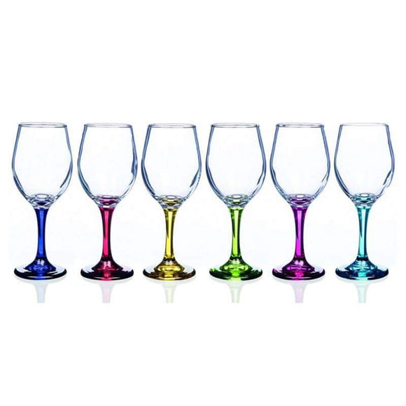 Newgrange Living Rainbow Wine Glasses of 6