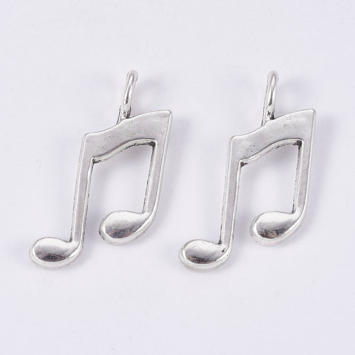 Musical Note Pendant Charm Theme Set, 27mm - 6 Pack