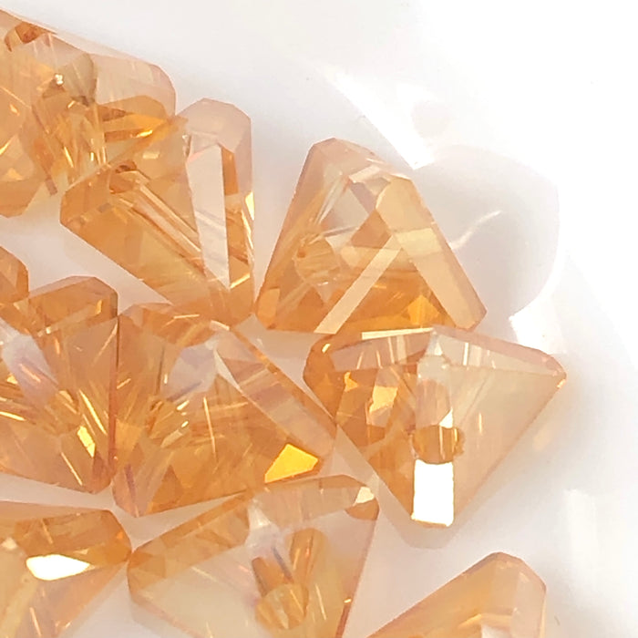 amber colour triangle shaped jewelry beads