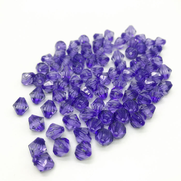 Purple Acrylic Bicone Beads, 6mm - 100 Pack
