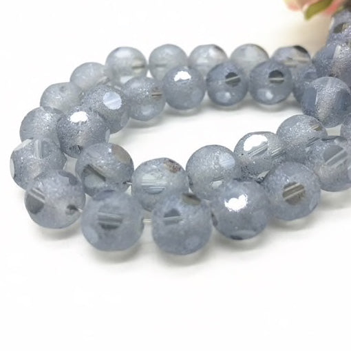 Frosted Faceted Crystal Beads, 8mm - 20 Pack