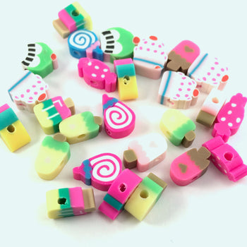 colourful beads that look like assorted treats