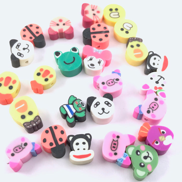 colourful jewelry beads that look like cartoon animals