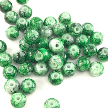 jewelry beads that have a marble green texture