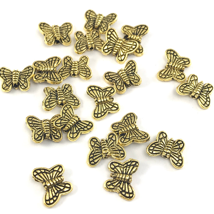 antique gold colour butterfly shaped jewerly beads