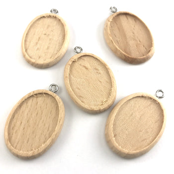 blank jewelry pendant trays made out of wood