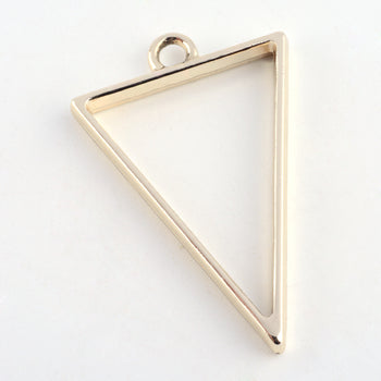 triangle shape gold colour open bezel for jewelry making